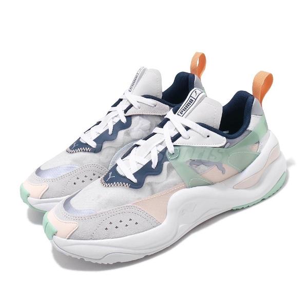 Puma 休閒鞋 Rise Wns 白 綠 女鞋 復古慢跑鞋 透明鞋面 運動鞋 老爹鞋【PUMP306】 37177701