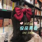 髮夾 大蝴蝶結髮夾后腦勺lolita髮飾彈簧夾橫夾髮繩布藝 5色