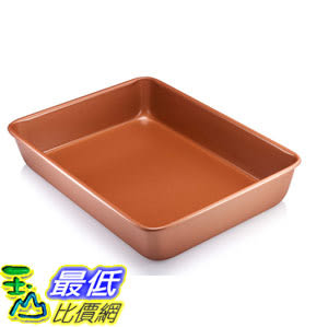 [8美國直購] 大型烤盤 Gotham Steel 1359 Large Baking Pan, Rectangle Brownish
