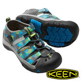 【KEEN 美國】Newport H2 兒童護趾水陸兩用鞋『灰/藍』1016281 健行.涼鞋.自行車.溯溪.健走