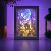 diy光影紙雕燈 幾禾diy材料包手工製作禮物3D立體 - 歐美韓熱銷