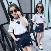 女童套裝女童夏裝新款韓版小女孩潮衣服中大童時尚短袖兩件套 mc6726『優童屋』