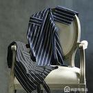 黑白條紋圍裙 美式簡約創意廚房圍裙 時尚家用加厚口袋純棉圍裙 美斯特精品 美斯特精品