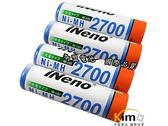 iNeno艾耐諾3號 三號 充電電池 AA-Rechargeable 2700mAh 四入裝 附電池收納盒 KIMO奇盟電池
