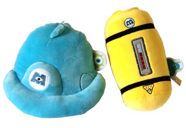 【卡漫城】 怪獸大學 絨毛吊飾 二入組 ㊣版 MU 毛怪 Mike 娃娃 大眼仔 抱枕 吊飾 裝飾 Sulley 電瓶