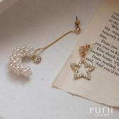 現貨◆PUFII-耳環 正韓月亮配星星耳環-0226 春【CP18043】