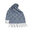 CELINE經典LOGO滿版羊毛圍巾(藍灰色)084091-2