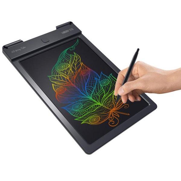 繪畫板 VSON 樂寫彩色液晶手寫板 兒童繪畫涂鴉光能草稿寫字板 電子畫板   igo