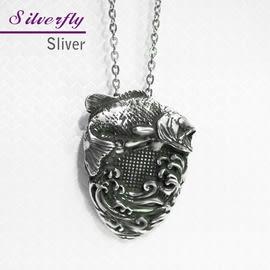 《 SilverFly銀火蟲銀飾 》鯉躍龍門純銀項鍊-硫化版