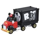 小禮堂 TOMICA多美小汽車 迪士尼 米奇 造型貨櫃車 玩具車 模型車 (黑) 4904810-15646