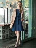 秋冬8折[H2O]大V領兩穿顯瘦連身毛線波浪裙洋裝 - 紅/深藍/淺藍色 #8630029