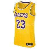 Nike 球衣 Lebron James Icon Edition Swingman Jersey 紫 金 洛杉磯湖人隊 男款 【PUMP306】 AA7099-741