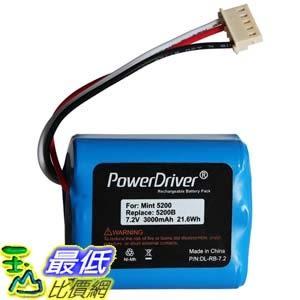 [104美國直購] PowerDriver 7.2V 3000mAh Ni-MH 鎳氫電池 iRobot Mint 5200 5200B 5200C Braava 380 380T_d14