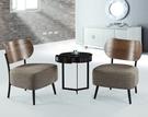 【南洋風傢俱】房間椅洽談椅系列-亮黑小茶几休閒桌椅組 CX688-8 CX605-2