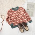 兒童針織上衣 女童秋季套頭針織毛衣潮2020春秋新款洋氣兒童上衣童裝中小童線衣 嬡孕哺