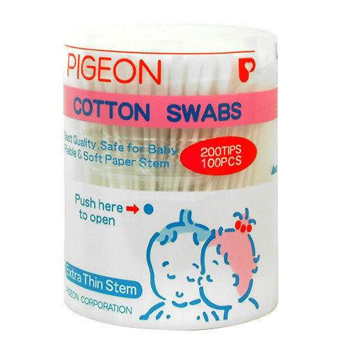 【奇買親子購物網】貝親PIGEON紙軸棉棒(粗)100支