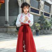 古裝改良錦鯉古裝古風漢服秋冬裝女中國風襦裙漢元素日常學生套裝 生活優品