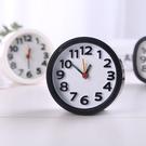簡約時尚靜音鬧鐘 圓形黑白鬧鐘 辦公家用 桌面臥室 床頭小鬧鐘 指針鬧鐘【SV9792】BO雜貨