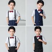 兒童禮服男童花童男孩表演演出服鋼琴套裝西服小主持人西裝英倫夏 滿天星