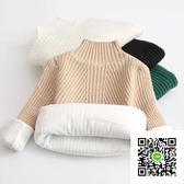 女童毛衣  兒童毛衣新款女童套頭針織寶寶打底衫加絨加厚中大童純色 歐歐流行館