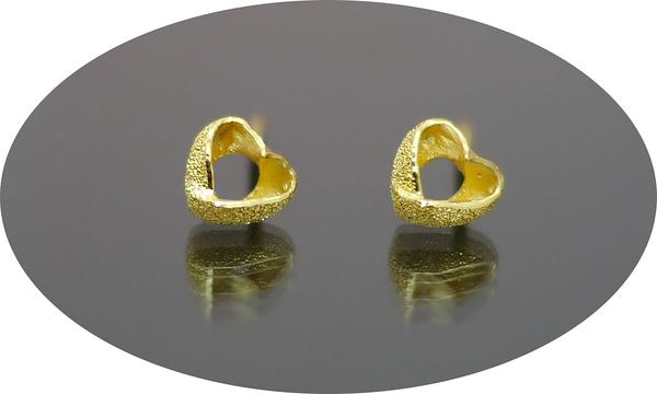 gold 黃金 耳環 金飾 保證卡 重量0.32錢 [ ge 042 ]