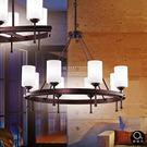 吊燈★簡約時尚 簡單大方玻璃透光吊燈 8燈✦燈具燈飾專業首選✦歐曼尼✦