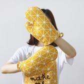 618大促日式棉麻加厚隔熱手套 微波爐耐高溫手套廚房烘焙烤箱專用手套