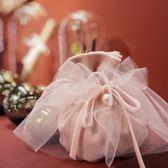 婚禮喜糖袋紗袋結婚喜糖盒伴手禮盒裝手提拎袋【南風小舖】