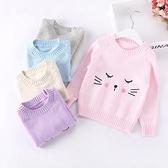 女童毛衣2020 春秋薄款 純棉針織衫低領  洋氣女孩打底衫小山好物