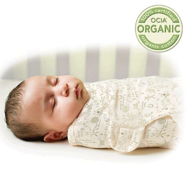 《美國Summer infant》聰明懶人純棉包巾(有機棉兔) ㊣原廠授權總代理公司貨