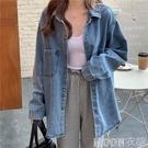 薄款外套工裝牛仔外套女春新款韓版薄款寬鬆長袖休閒襯衫上衣潮快速出貨