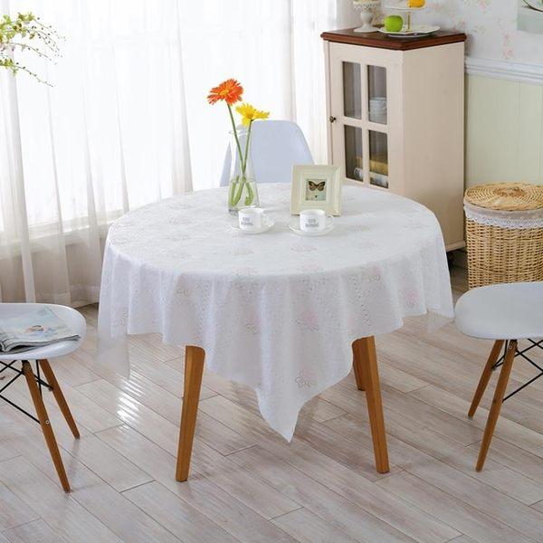 PVC防水防油免洗餐桌布 田園茶幾墊 塑料圓台布 軟質玻璃桌墊  LannaS