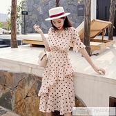 雪紡洋裝女中長款2020新款夏季桔梗裙波點長裙子  中秋特惠