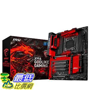 [美國直購] MSI 主機板 Extreme Gaming Intel X99 LGA 2011 DDR4 USB 3.1 Extended ATX Motherboard (X99A GODlike Gaming )