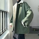 夾克外套羽絨服 工裝外套加厚男生外套 潮流男士外套 羽絨外套韓版外套 羊羔絨棉服男士棉衣