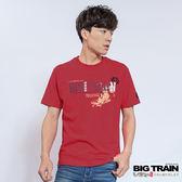 BIG TRAIN  伊達政宗圓領T-男-紅橘
