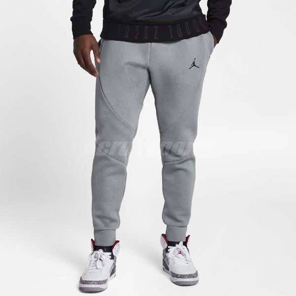 Nike 長褲 JORDAN SPORTSWEAR FLIGHT TECH FLEECE 灰 黑 男款 運動長褲 【PUMP306】 879500-091