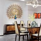 钟表孔雀挂钟客厅家用时尚欧式表现代简约静音石英钟创意大气时钟 印巷家居