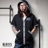 【BTIS】酷帥 短袖連帽外套 / 黑色