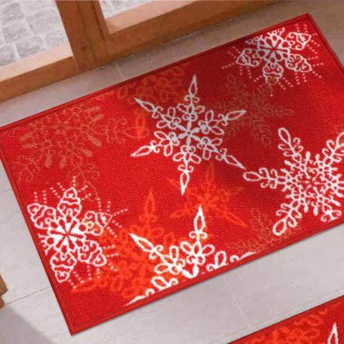 范登伯格 聖誕系列 雪花腳踏墊-40x60cm