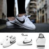 【男女款】Nike 阿甘鞋 Wmns Classic Cortez Leather 白 黑 復古慢跑鞋 皮革 女鞋 男鞋【PUMP306】807471-101