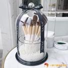 刷筒化妝刷桶刷子收納桶美妝復古風透明筆筒書桌布置【小獅子】