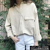 快速出貨 韓版復古牛仔襯衫BF風顯瘦翻領【2021鉅惠】