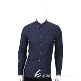 KENZO 深藍色飛碟圖騰印花長袖襯衫 1540424-34