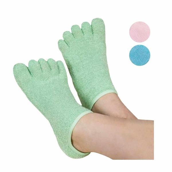 LE EMILIE 保濕五趾襪 乾裂肌膚 精油保濕 5 Toe Moisturizing Gel Socks  綠/藍/紅 [2美國直購]