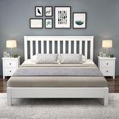 實木床 美式實木床白色床北歐1.8m主臥雙人床1.5m兒童床經濟簡約現代床