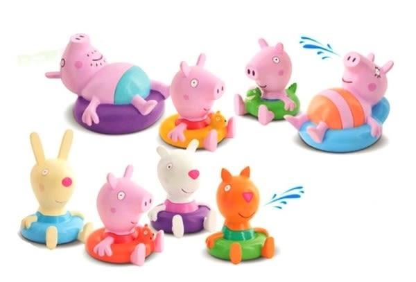 Peppa pig 粉紅豬小妹家庭洗澡公仔組 共兩款 TOYeGO 玩具e哥