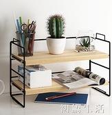 簡易書架桌上桌面置物架辦公桌多層書桌餐桌收納小型台面儲物架子 中秋節全館免運