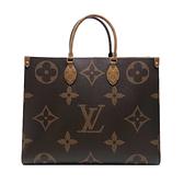 【台中米蘭站】全新品 Louis Vuitton ONTHEGO GM 手提肩背二用包(M45320-咖)