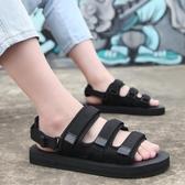 涼鞋 涼鞋男夏季兩用羅馬沙灘鞋防滑涼拖鞋透氣休閒情侶一字拖潮韓